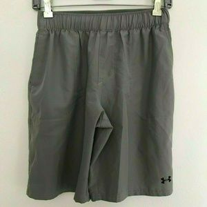 Under Armour Gray Loose Athletic Shorts Size Large